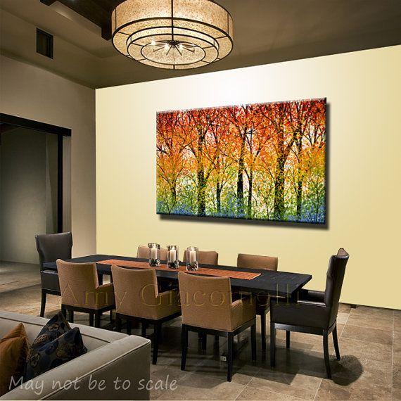Extra Large Wall Art Rainbow Home Decor // Modern door AmyGiacomelli ...