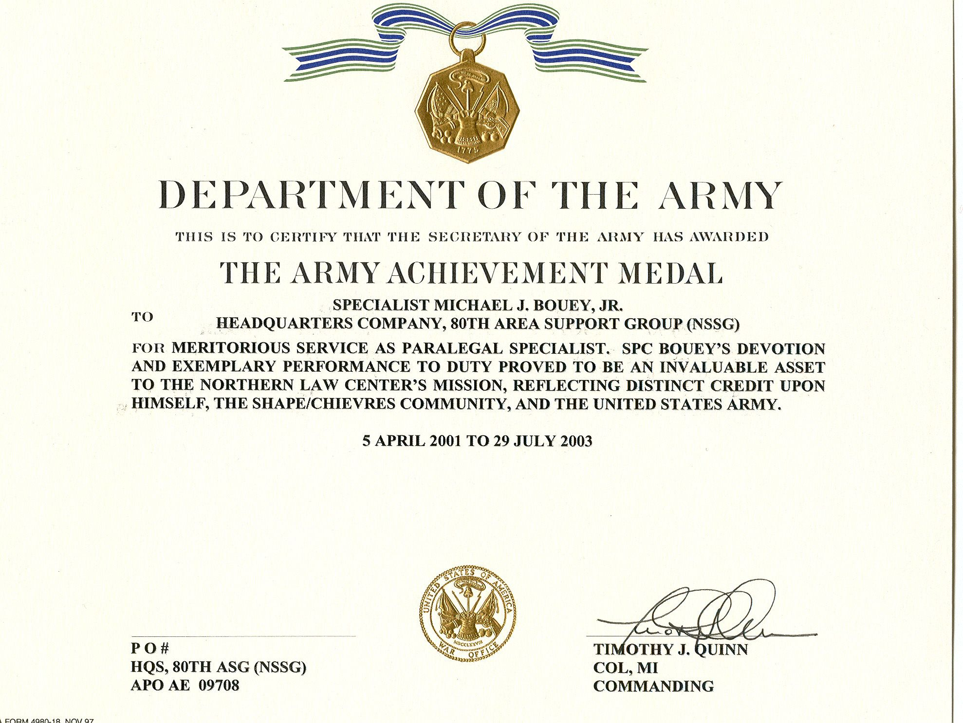 Templates Certificate Of Achievement Google Search Military