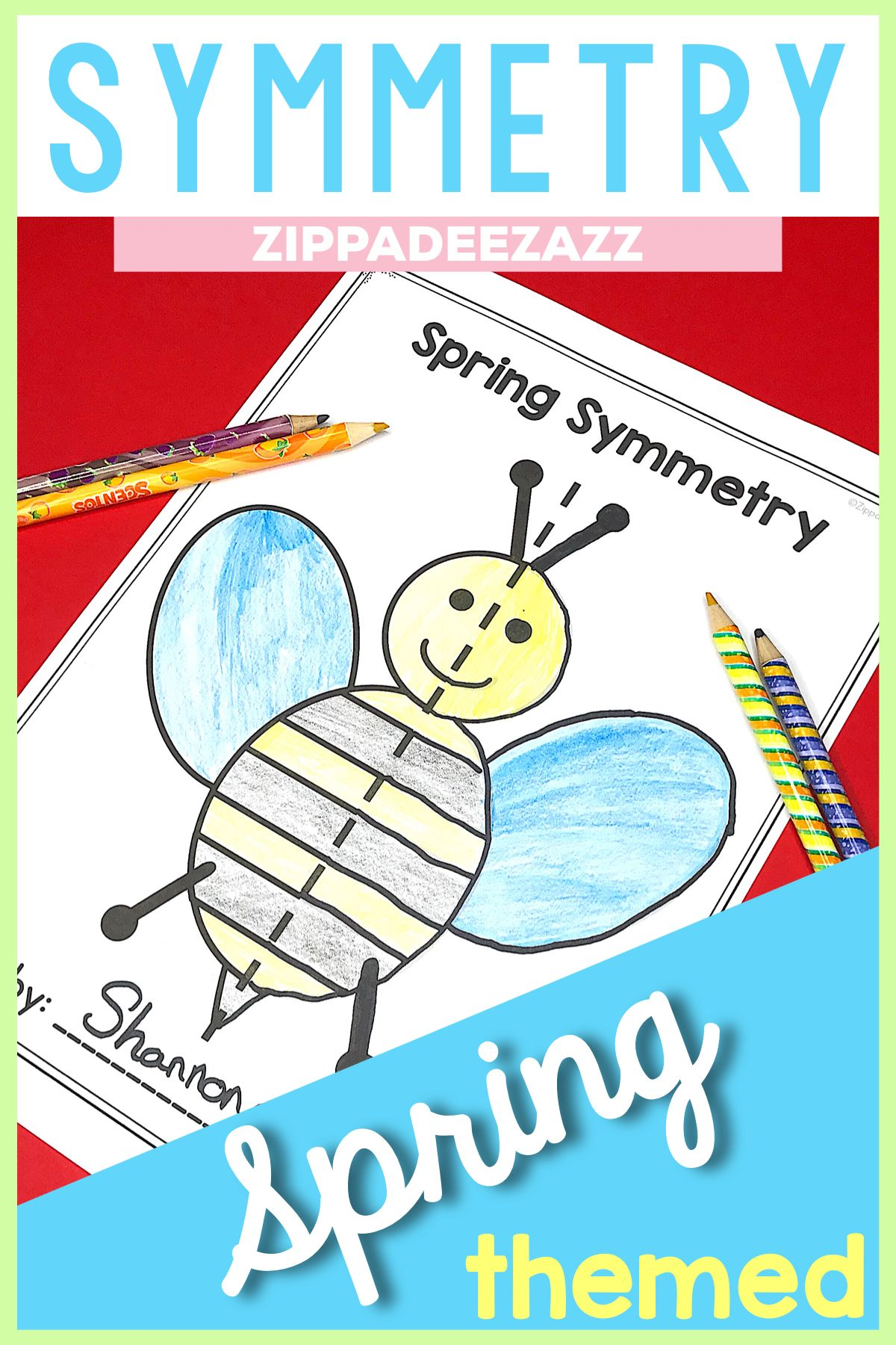 Spring Symmetry Drawing Activity For Art And Math With