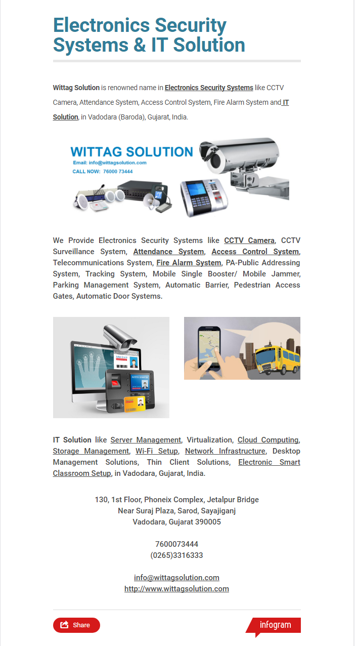 Are you finding Electronics Security Systems and IT Solution in