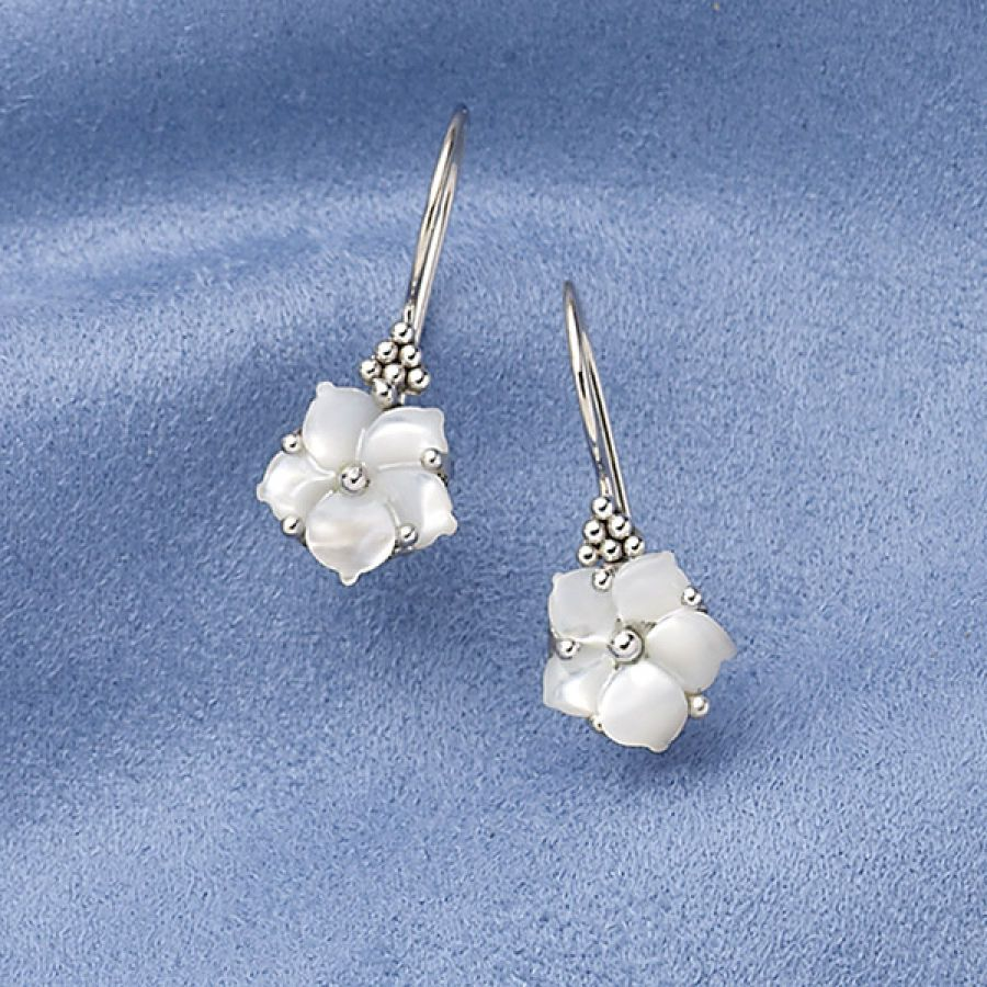 Mother Of Pearl Flower Earrings Necklaces Rings Bracelets Pendants And