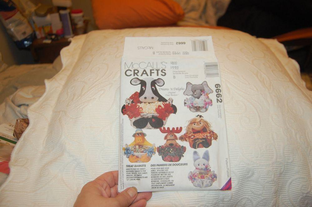McCall's Crafts  Treat Basket Pattern 6662 #McCalls