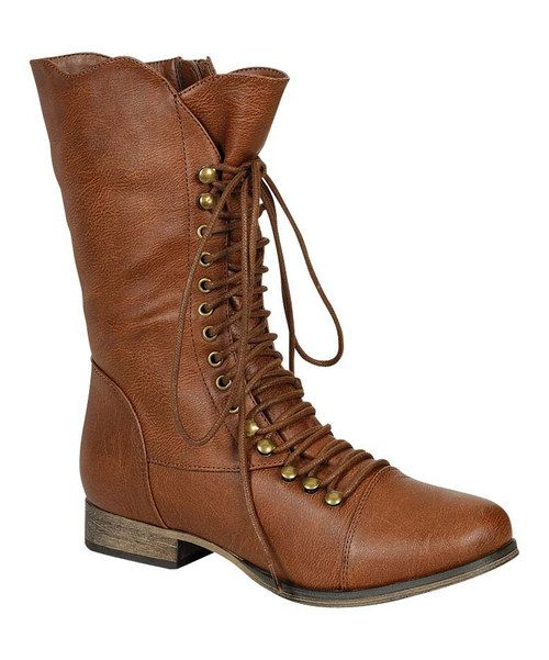 A Lace-up Front Gives These Pretty Boots A Kick Of Vintage