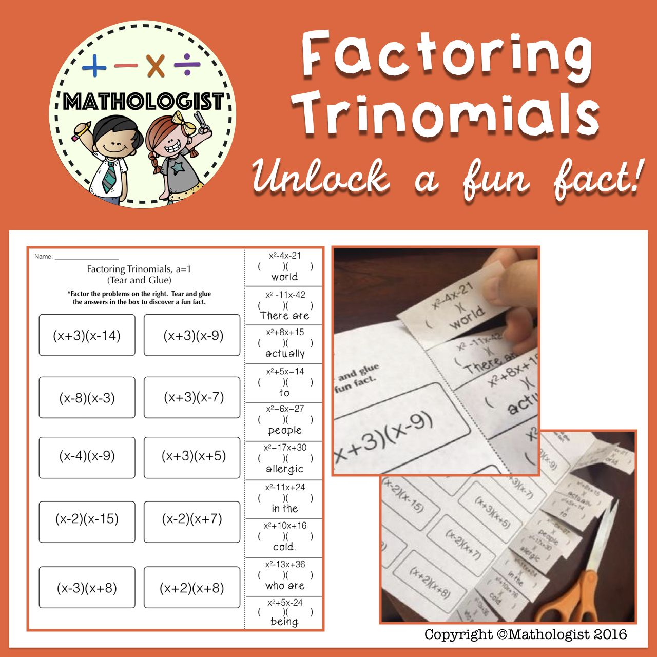 Factoring Trinomials A 1 Algebra Fun Fact With Images