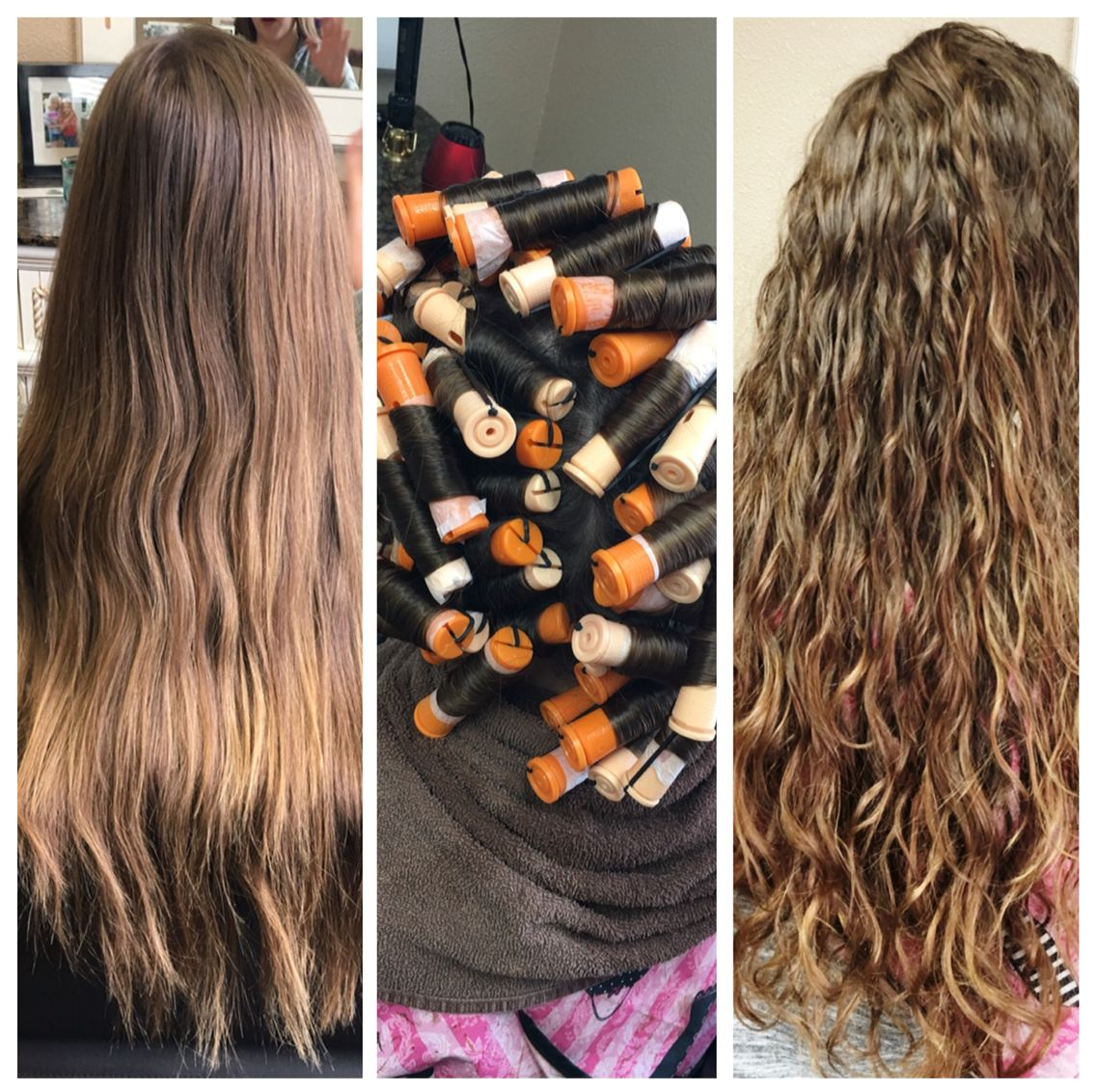 Before my perm during and after (me) | Hair styles