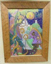 Wedgwood fairyland lustre framed bone china plaque