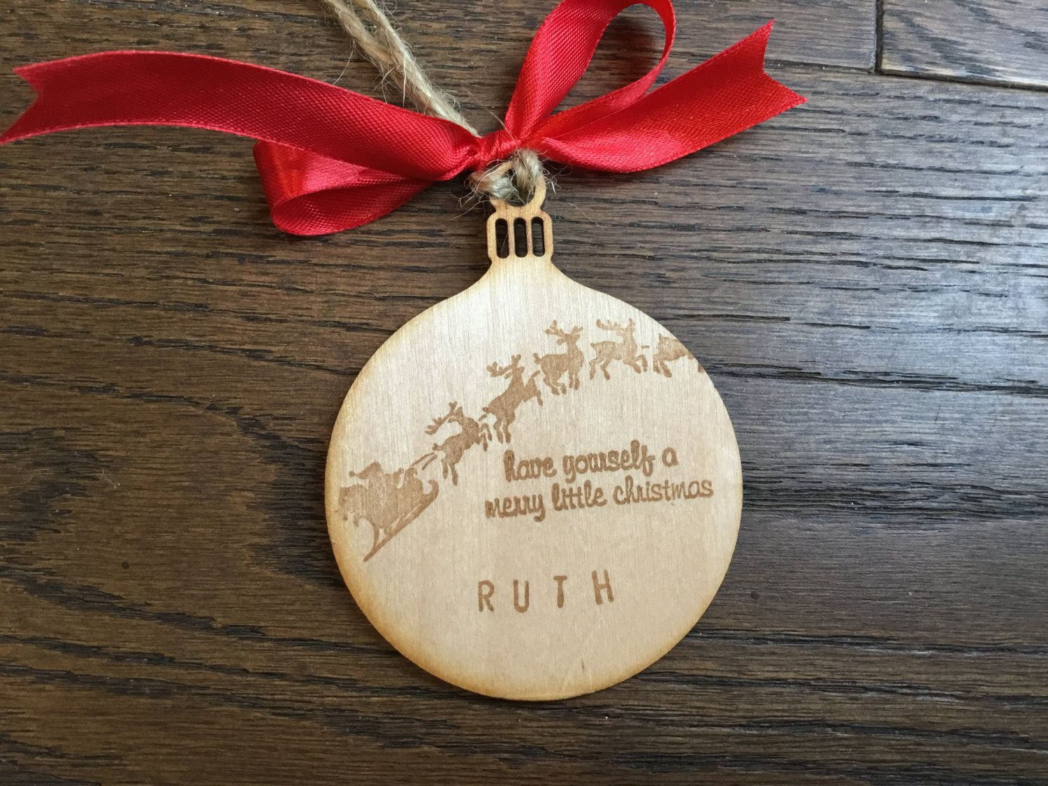 Personalised / Customised, Rustic wooden Christmas decoration, unique bauble gift, santa's sleigh, reindeer, Christmas eve by BeyondTheShed on Etsy