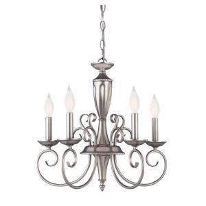 Illumine 5 light pewter chandelier aloadofball Image collections