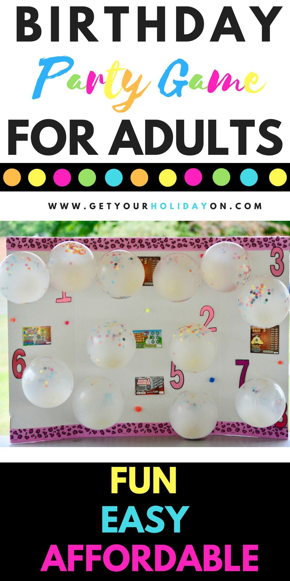 Simple DIY Party Game For Adults 50th birthday party