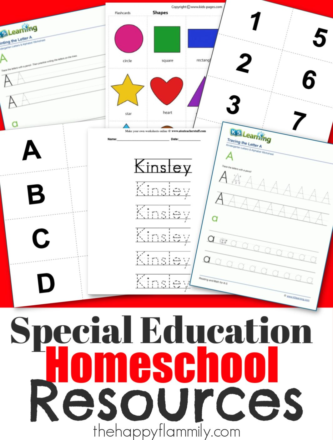 Special Needs Homeschool Teaching Resources In