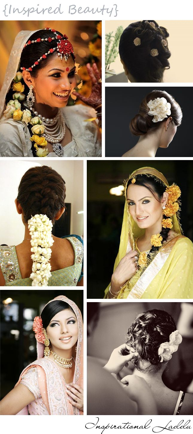 Flowers In Hair Indian Fashion Henna Pinterest Flowers Hair