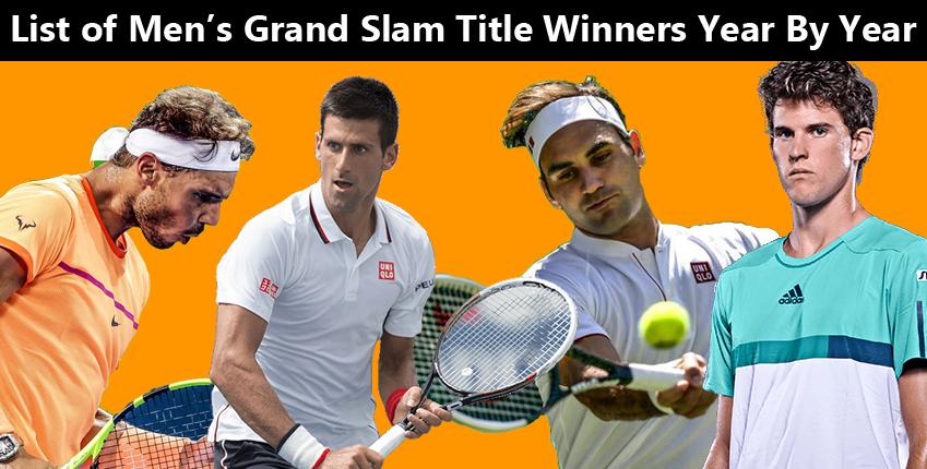 List Of Men S Grand Slam Title Winners Year By Year Grand Slam Ivan Lendl Tony Roche