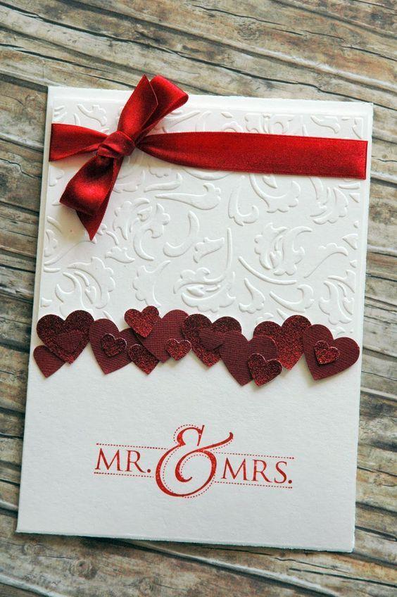 открытки своими руками на свадьбу легкие стиль