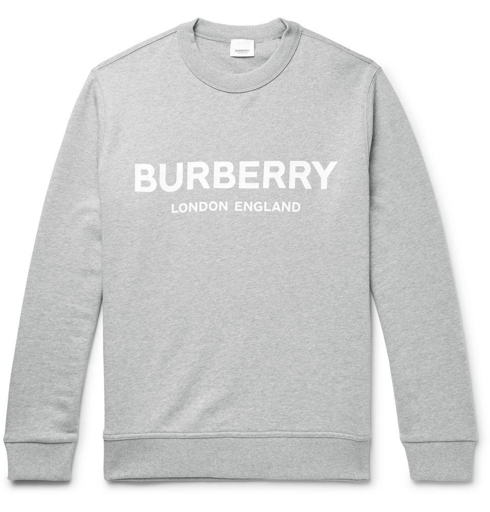 Gray Logo Print Melange Loopback Cotton Jersey Sweatshirt Burberry In 2020 Jersey Sweatshirt Sweatshirts Burberry [ 1002 x 960 Pixel ]