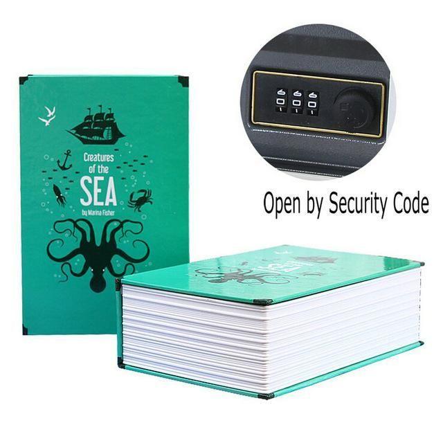 Book Secret Hidden Security Safe Lock Cash Money Jewellery Locker