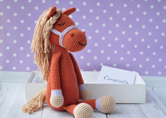 Horse Toy Amigurumi Tutorial #2 🦄 Örgü - YouTube | 405x570