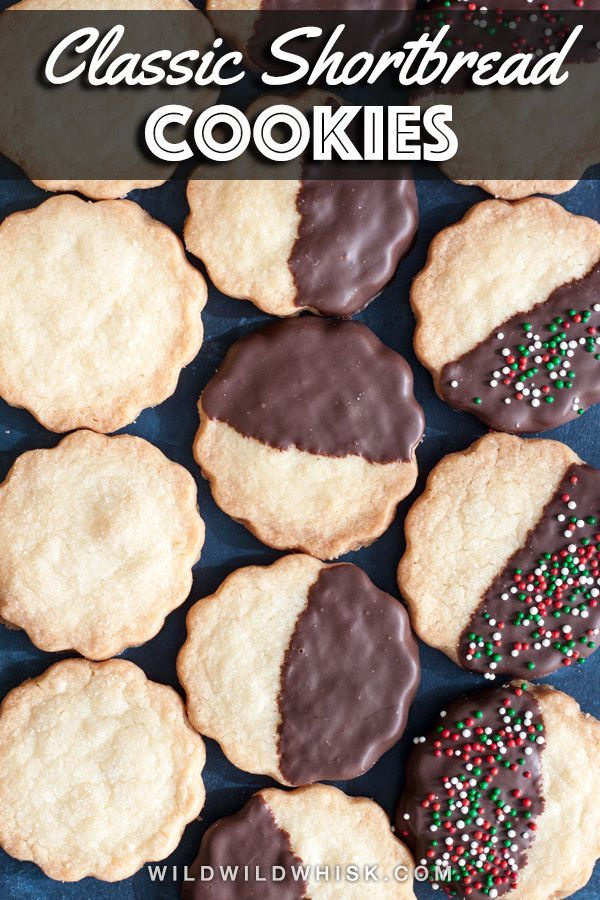 Classic Shortbread Cookies  Wild Wild Whisk This buttery Classic Shortbread Cookies recipe is very easy to make Serve them plain or dipped in chocolate and garnished with...
