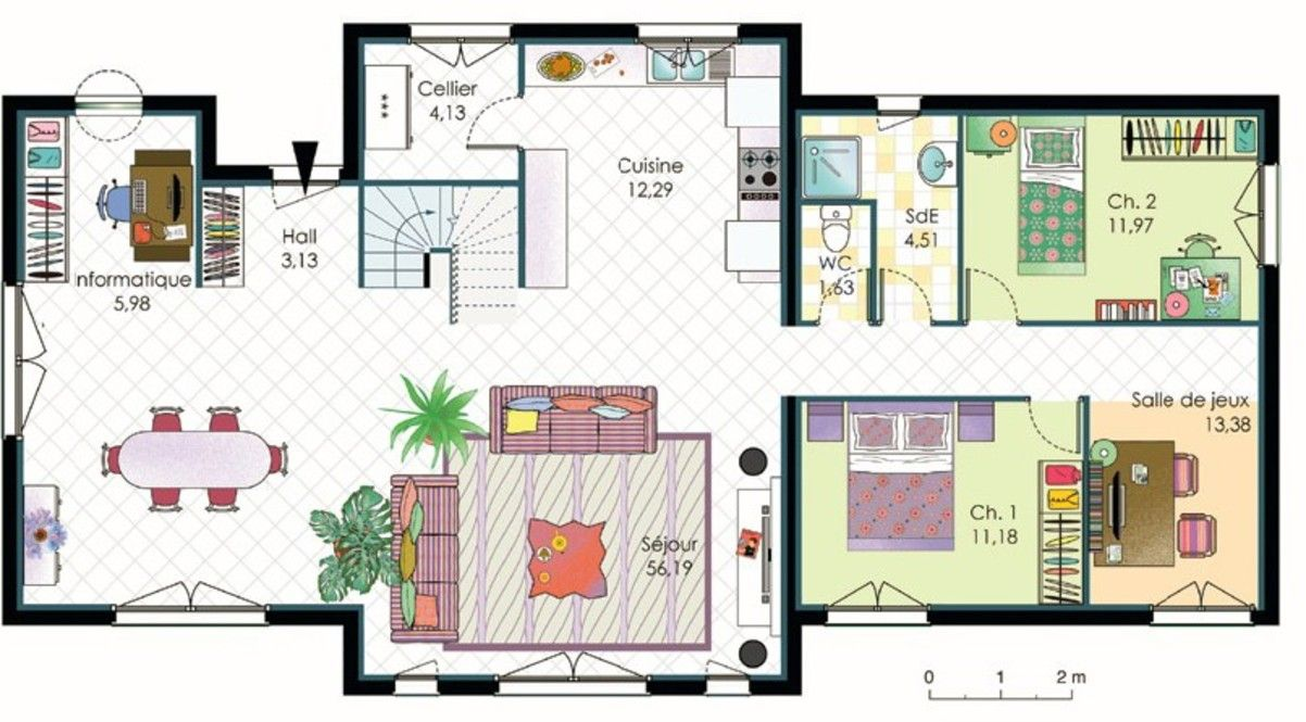 Plan Maison D En France Architecture Pinterest