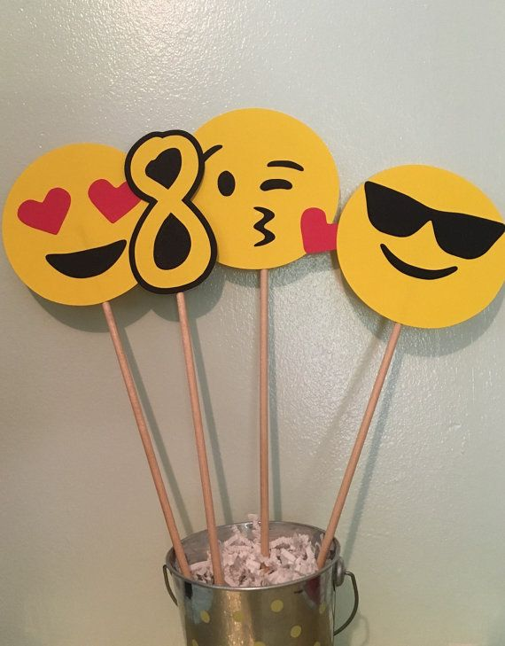Emoji Centerpieces Photo Props For Birthday Party