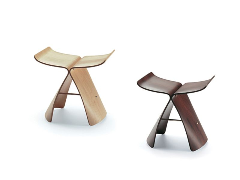 Sgabello in laminato butterfly stool by vitra design sori yanagi
