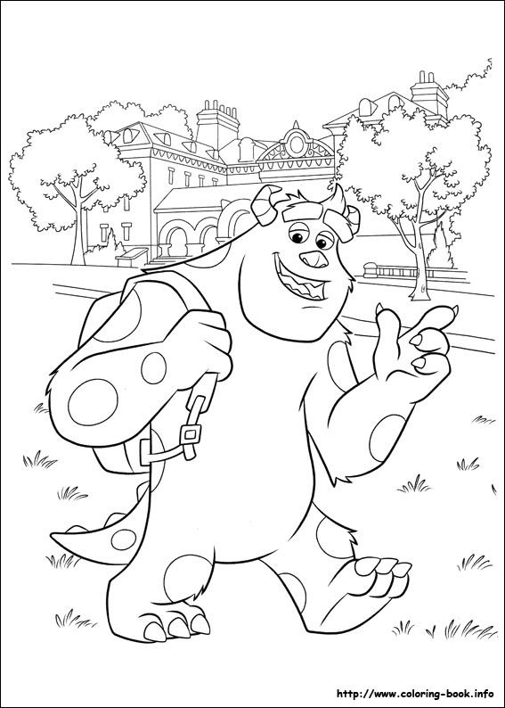 Monsters University Coloring Pages Google Search Coloriage