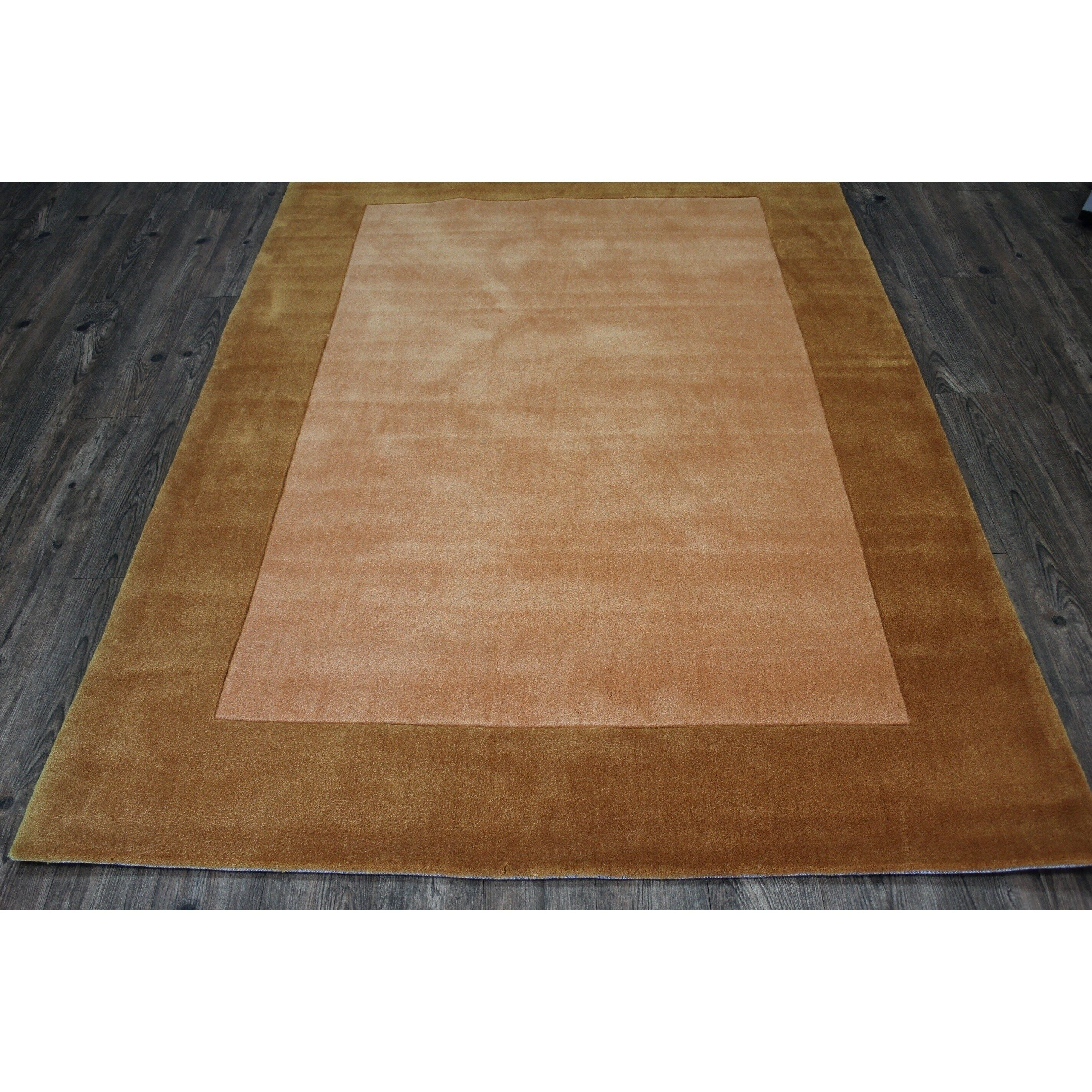Tone On Solid Gold Area Rug 5 X