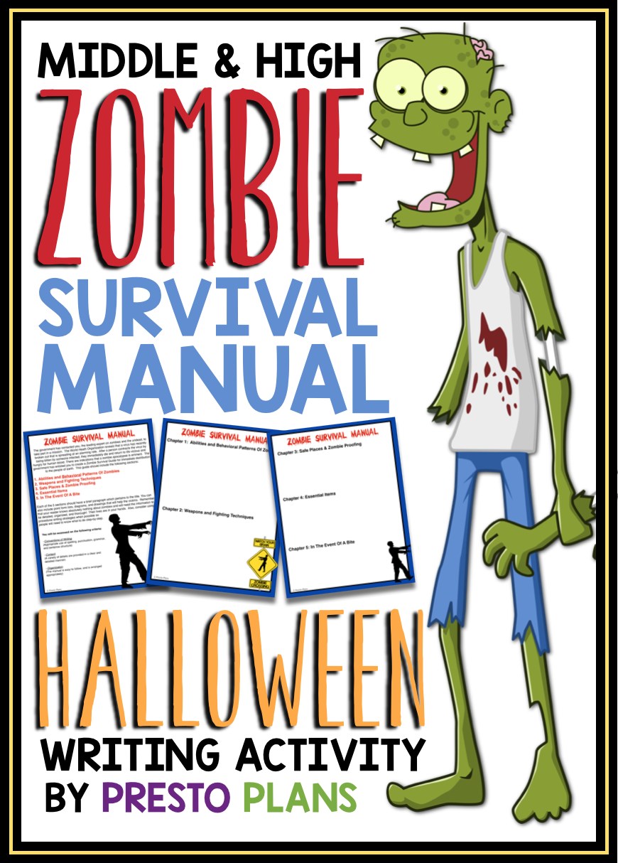 Use Zombies To Improve Student Writing This Writing Assignment Has Students Play The Role O Writing Assignments Halloween Writing Halloween Writing Activities [ 1214 x 870 Pixel ]