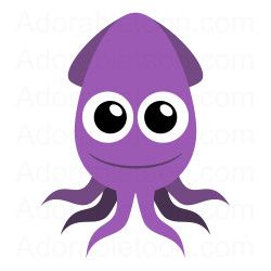 cute squid clipart from adorabletoon com under the sea rh pinterest com vampire squid clipart giant squid clipart