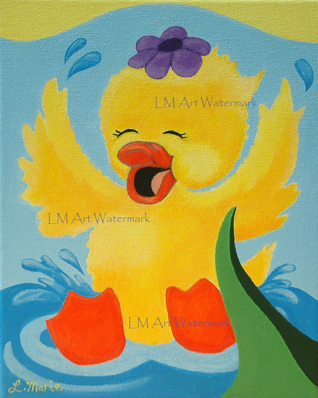 duck wall art kids wall art girl nursery decor art print kids room ...