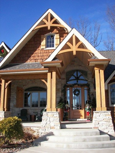 Gable bracket 43 bp garden and exteriors pinterest for Cedar gable brackets