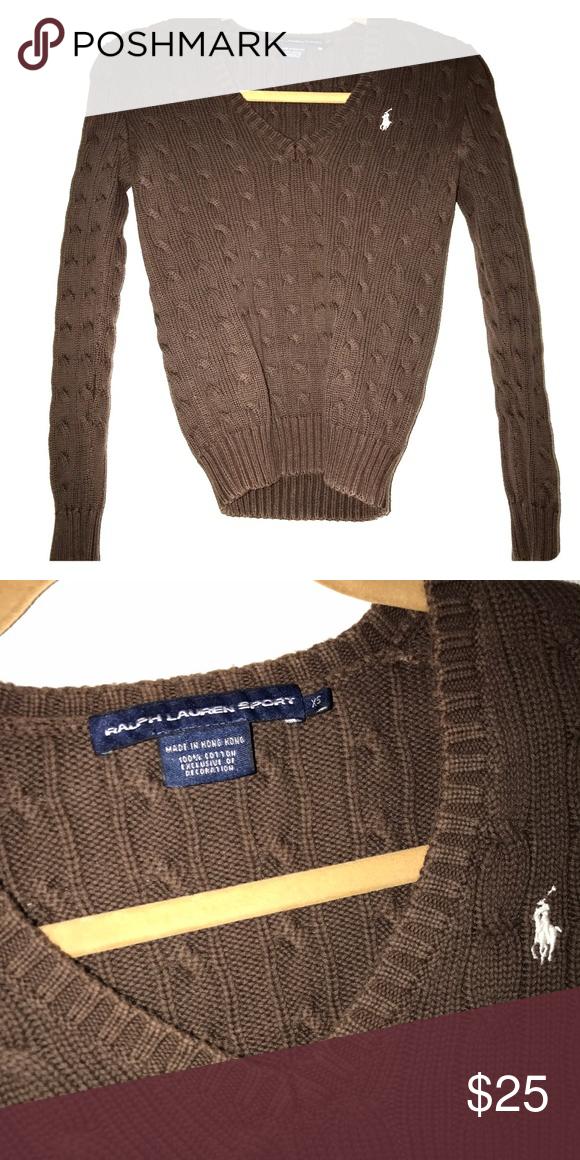 Ralph Lauren Sport VNeck Sweater Gently Used. Ralph Lauren Sport Sweaters V-Necks
