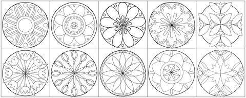 mandalas zum ausdrucken mit blumen free printable   mandalas zum ausdrucken, ausdrucken, mandalas
