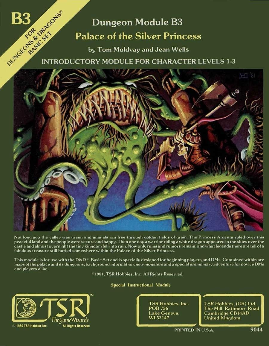 B3 Palace Of The Silver Princess Basic Wizards Of The Coast D D Basic Adventure Modules D D Bas Dungeons And Dragons Art Dungeons And Dragons Dungeon