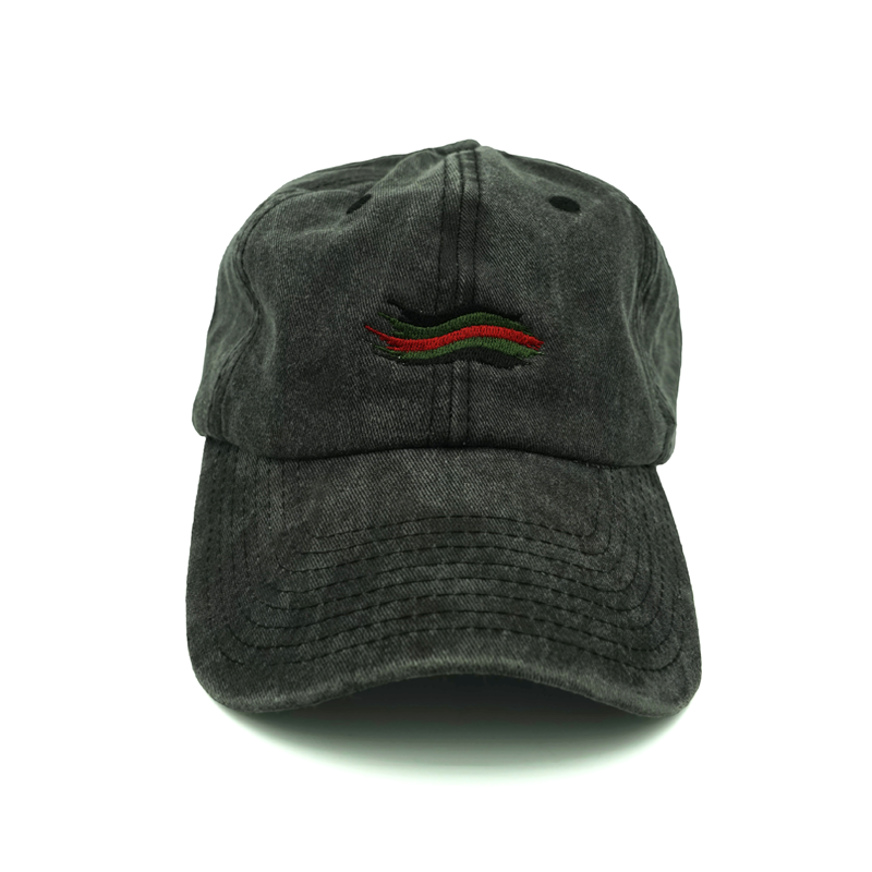 4423127f834ad Gucci Wave Dad Hat - Black Custom Embroidery