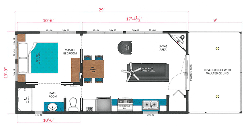 Whisper Cabin Whispering Springs Ontario Canada Floor Plan Humble Homes Jpg Cabin Floor Plans Tiny House Blog Tiny House Plans