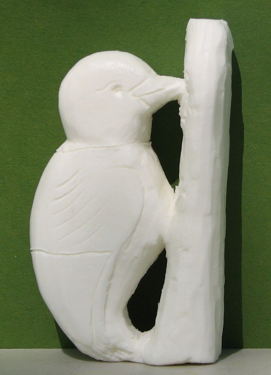 Soap carving completed at birds of vermont museum. soap carving
