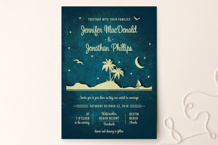 Love Island Wedding Invitations By Rebecca Bowen At Minted