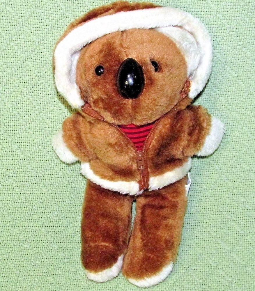 Vintage 12 Interpur Koala Teddy Bear Plush Stuffed Animal Brown