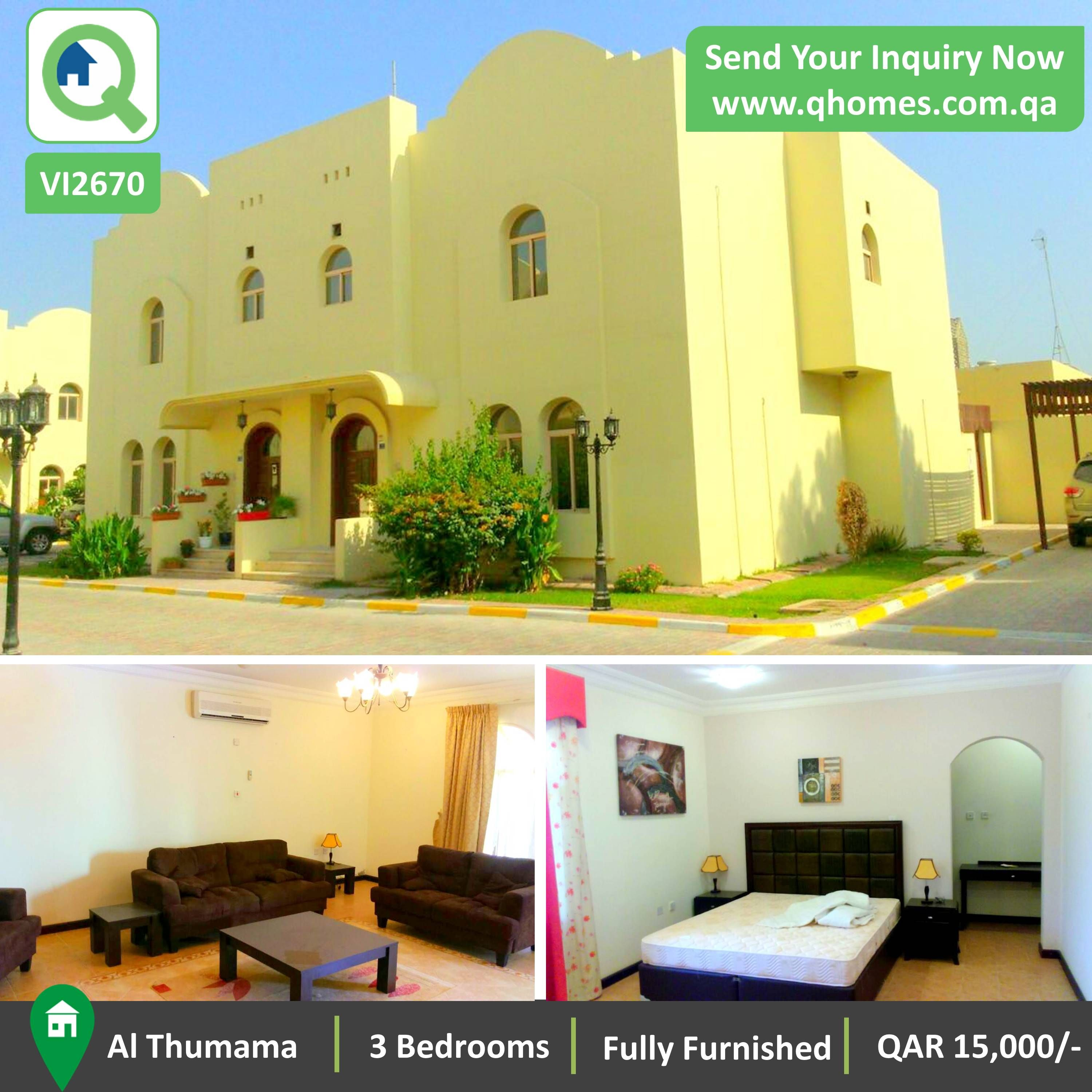 Villa For Rent In Qatar: Fully Furnished 3 Bedrooms Villa