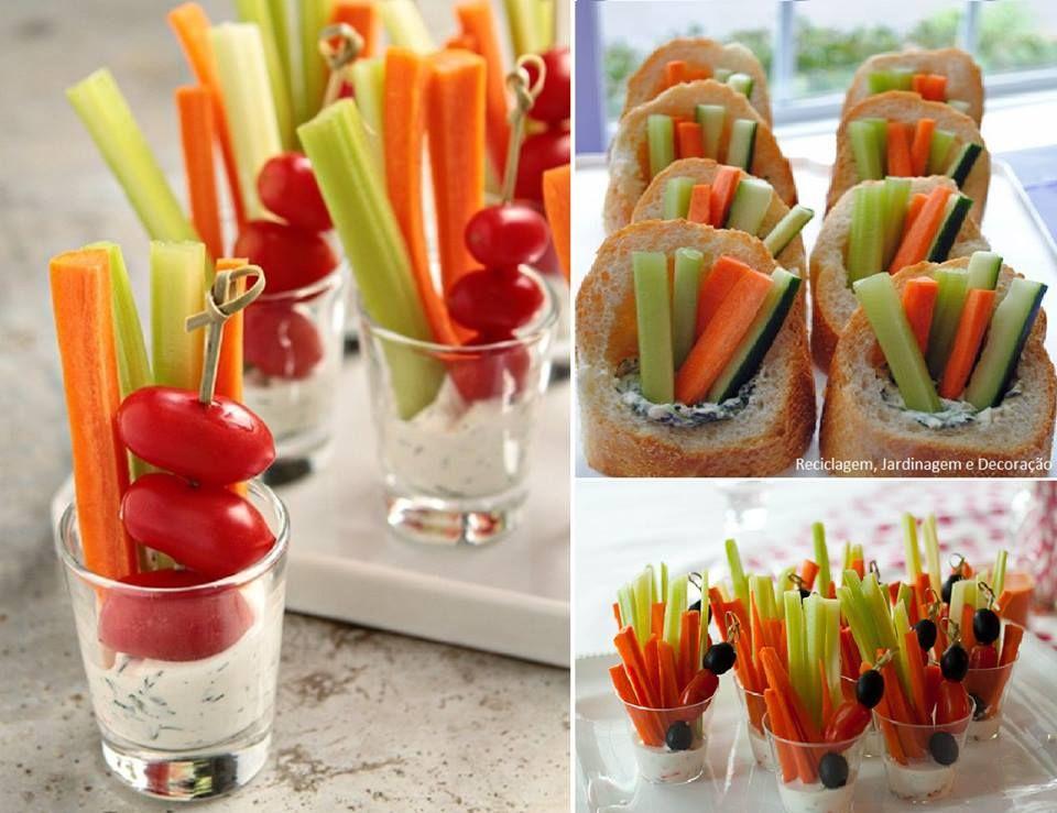Cenoura, pepino e tomate cereja.