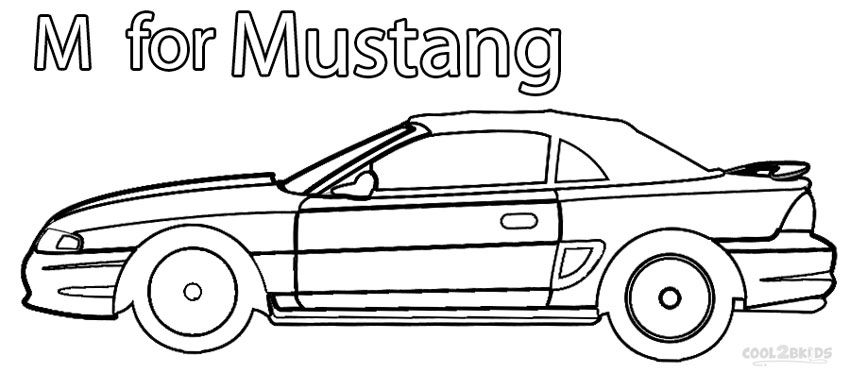 Printable Mustang Coloring Pages For Kids Cool2bkids Bible