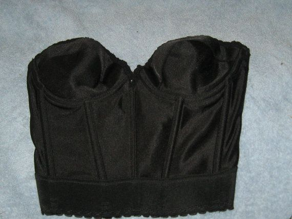 gorgeous 1970s black satin strapless long by Linsvintageboutique, $24.50