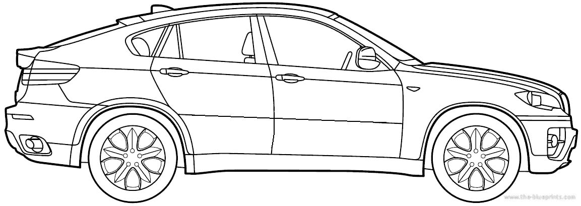 tekening auto bmw #7 | stad en verkeer