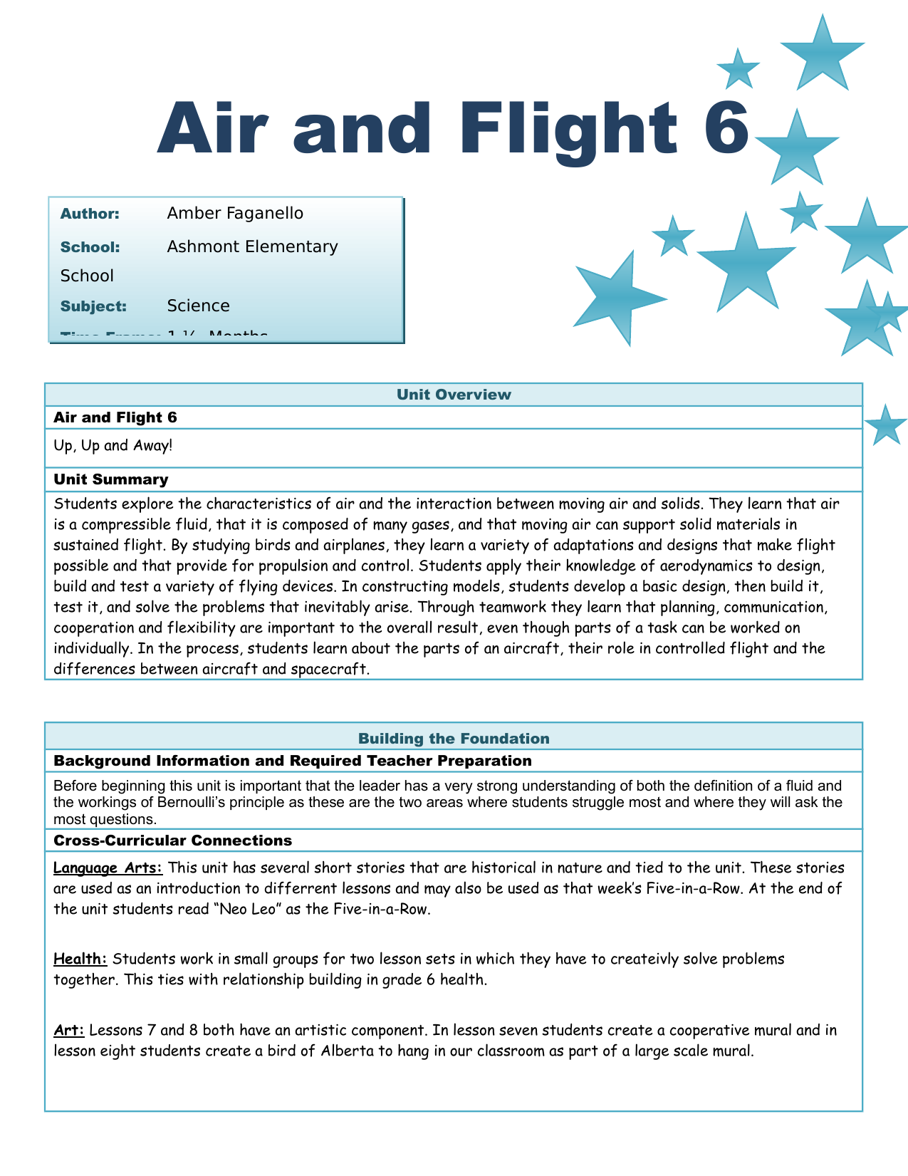 Air And Flight Unit Plan Resource Preview