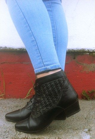 Vintage Victorian Ankle Boots