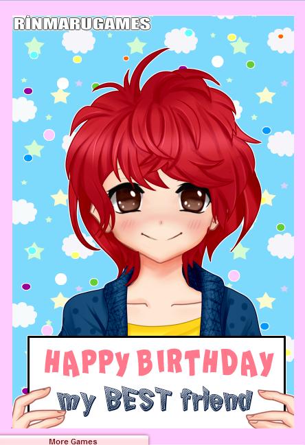 Anime Happy Birthday Card Maker Creations Pinterest