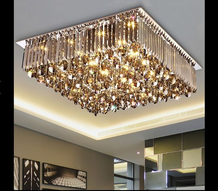 New Arrival Led Crystal Ceiling Lamp Modern Square And Round