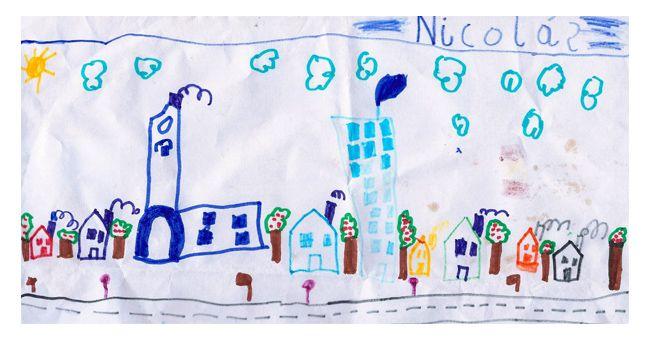Skyline madrileño by Nicolás (5 años)