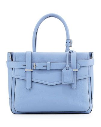 Boxer Pebbled Leather Tote Bag, Blue by Reed Krakoff at Neiman Marcus.