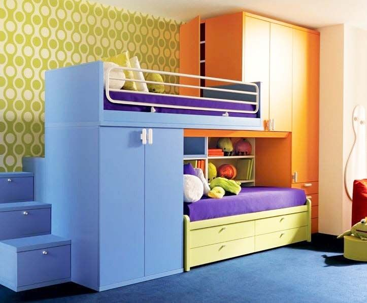 Magnificent Bunk Bed Storage Stairs And Nice Kids Bunk Beds With
